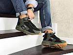Зимние кроссовки Nike Huarache (темно-зеленые), фото 4