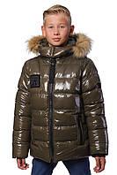 Подростковая зимняя куртка  для мальчика «Марк»