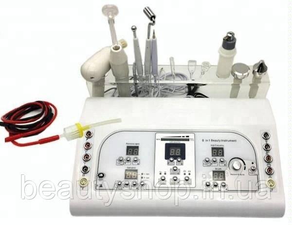 Аппарат 8 в 1 RU-8208 (Вакуумный, ультразвуковой, гальванический уход за лицом)