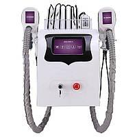 Апарат 5 в 1 ультразвуковий прилад для схуднення, кавітації, RF тіла, ліфтингу, кріо терапії 2 маніпули