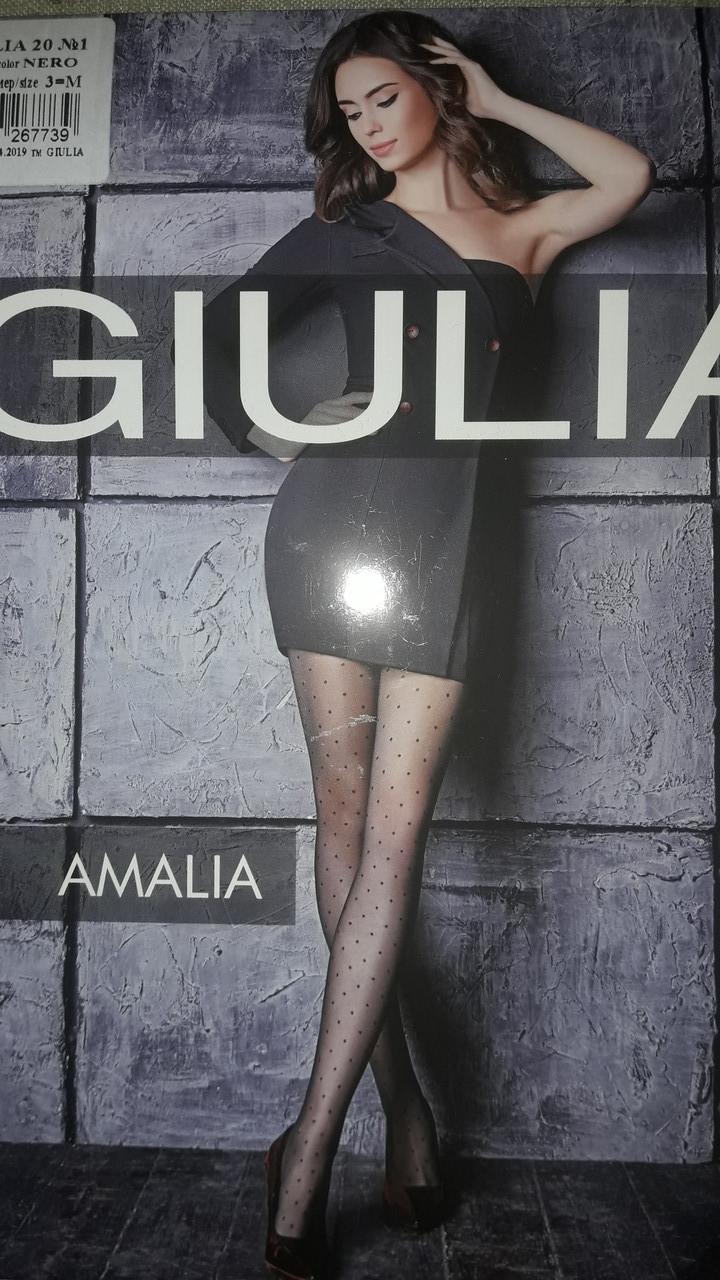 Фантазийные колготки Giulia Amalia 20 Den с узором в мелкий горошек