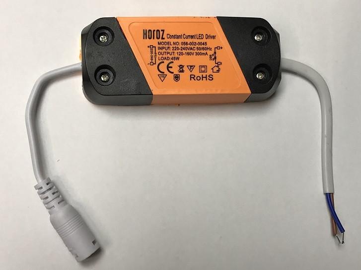 Драйвер для світлодіодів LED-45W 300mA IP20 Код. 59664