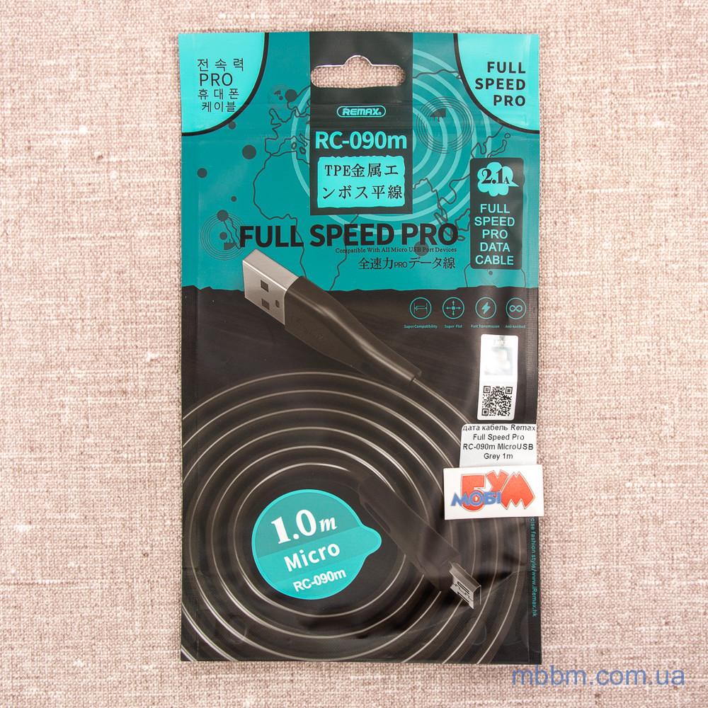 Remax Full Speed Pro RC-090m MicroUSB Grey 1m