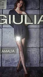 Фантазійні колготки Giulia Amalia 20 Den з візерунком у великий горох