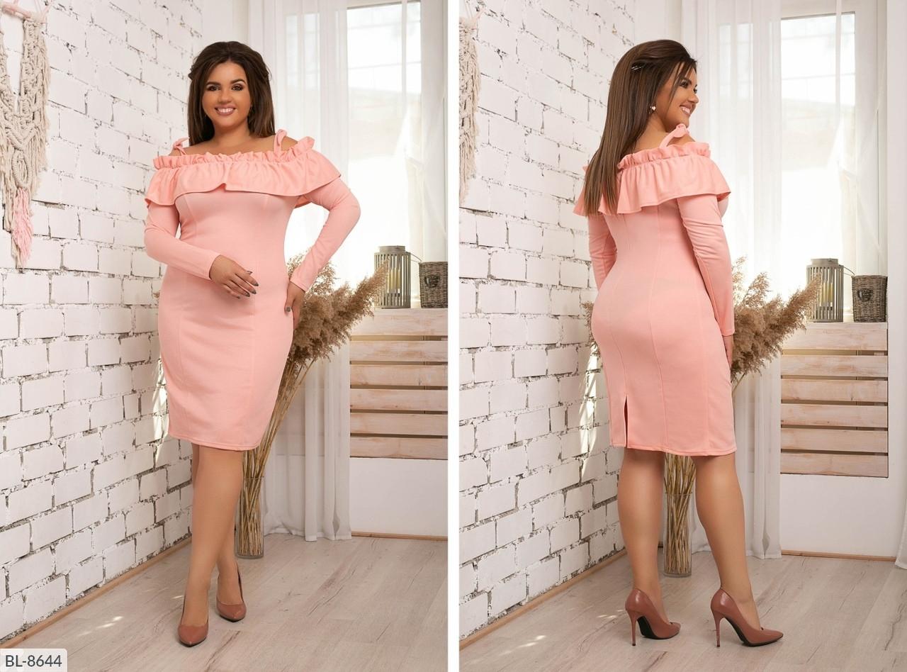 Стильное платье   (размеры 48-54) 0211-96