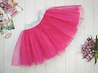 Фатиновая юбка на девочку 3-9 лет малиновый