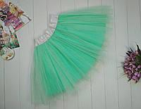 Фатиновая юбка на девочку 3-9 лет ментол