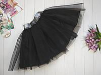 Фатиновая юбка на девочку 3-9 лет черный, фото 1