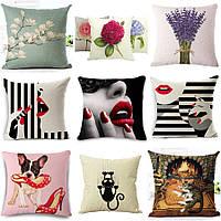 Декоративная подушка (большой выбор) 45см х 45см, интерьерная, диванная 115001