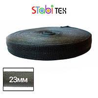 Лямовка тесьма окантовочная (обтачка) 23мм - 210гр (100м/боб) Чёрная