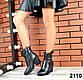 40 размер Женские черные казаки натуральная кожа Деми, фото 2
