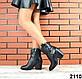 40 размер Женские черные казаки натуральная кожа Деми, фото 4