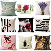 Декоративная подушка (большой выбор) 45см х 45см, интерьерная, диванная 115001п