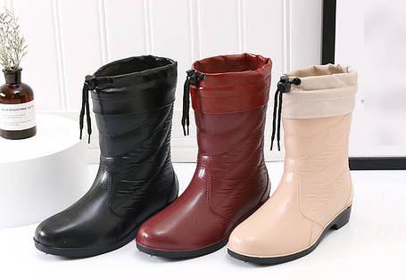 Стильные резиновые полусапожки под ботинки, фото 2