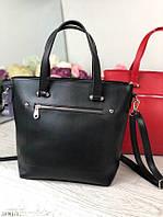 Черная женская классическая сумка сумочка женская небольшая среднего размера экокожа