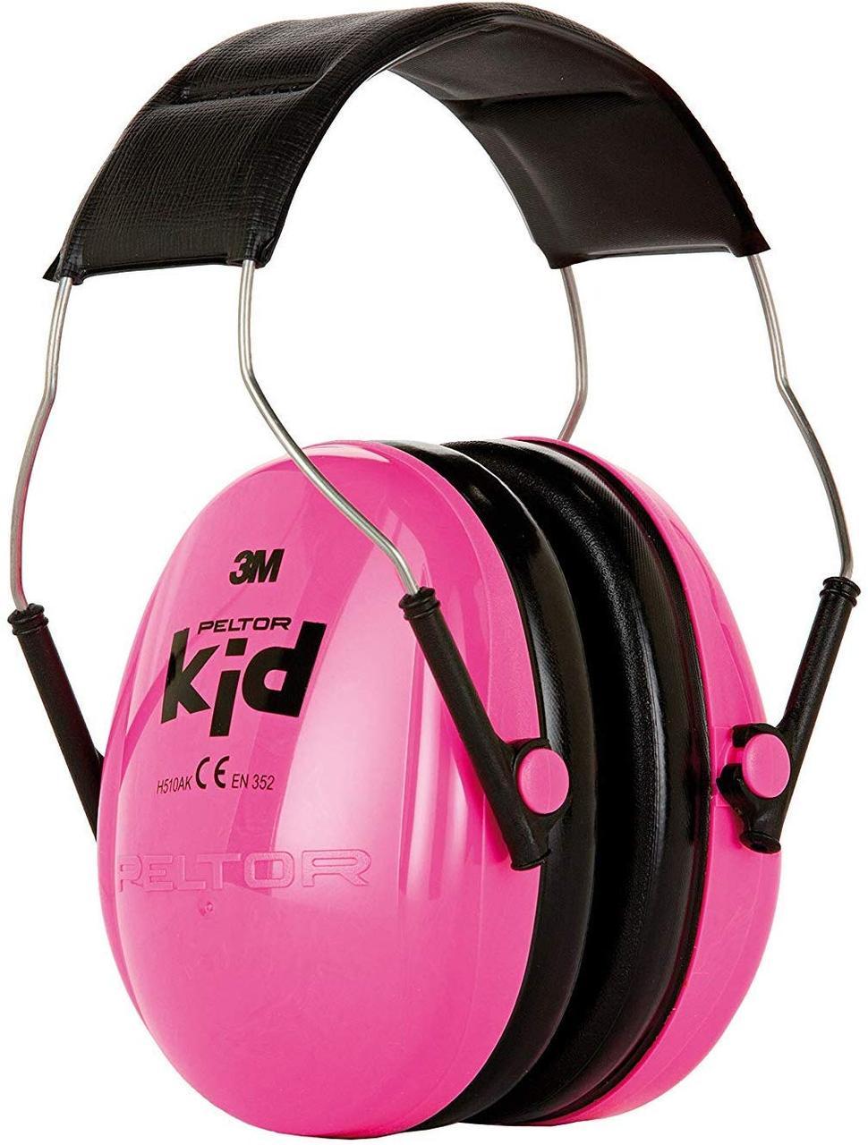Детские противошумные наушники 3M Peltor Kids (розовые)/ наушники для детей