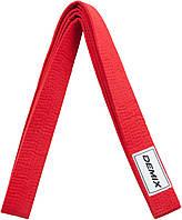 Пояс для кимоно Demix, 280 см, Красный