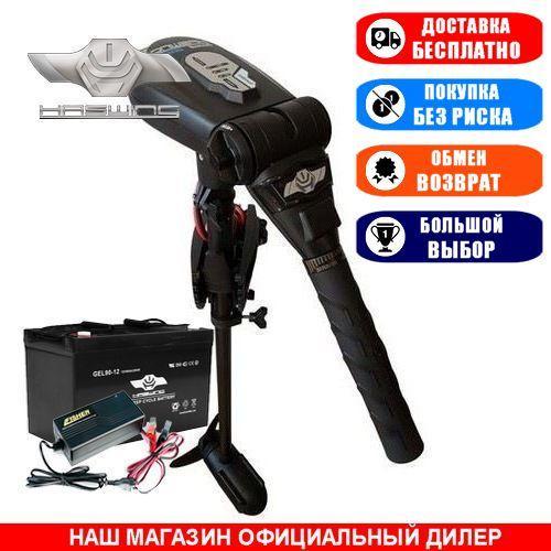 Электромотор для лодки Haswing Protruar 1.0 +120a/h AGM АКБ +З/У 10A.