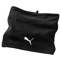 Повязка на шею Puma Neck warmer II 052212 02 (черная, флис, тренировочная, теплая, зимняя, логотип пума)