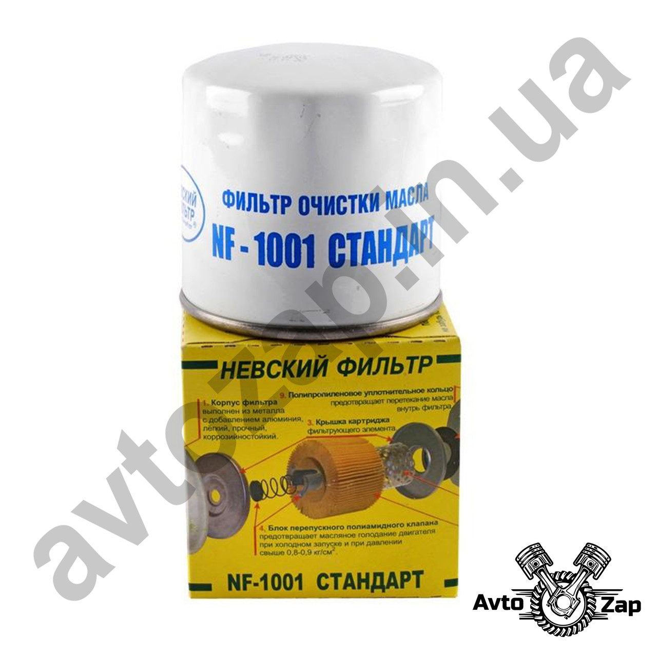 Фильтр масляный ВАЗ 2101-07 п/э уп., НФ 01-М     01245