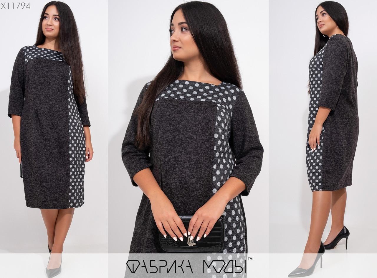 Стильное платье  (размеры 52-58) 0212-17
