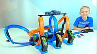 Автомобільний трек Mattel Hot Wheels Неймовірні віражі Corkscrew Crash Track (FTB65), фото 1