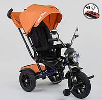 Трехколесный велосипед-коляска 4490-2903 Best Trike, поворотное сиденье, складной руль, пульт ДУ