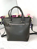 Темно-зеленая женская классическая сумка сумочка женская небольшая среднего размера экокожа
