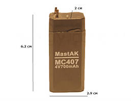 Аккумулятор 4V 0.7Ah (700mAh) MC407
