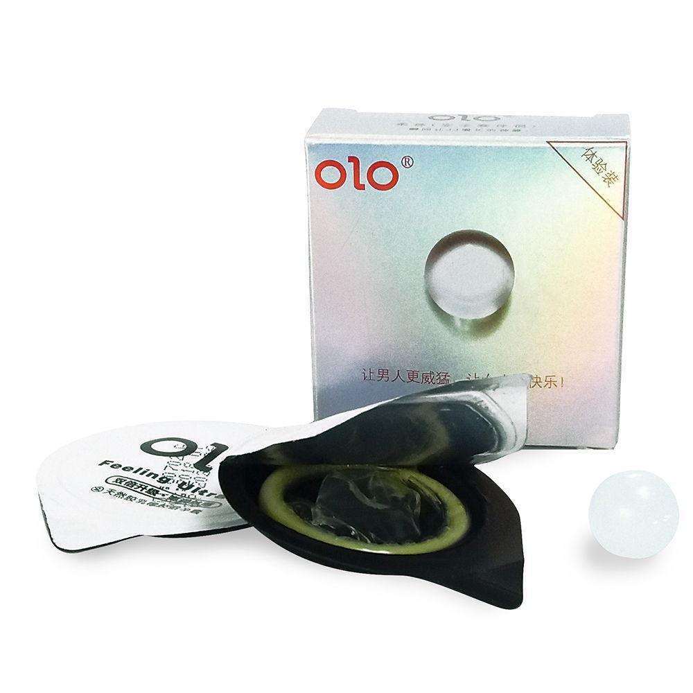 Ультратонкий презерватив с шариком 1 шт OLO 1 + 1 оригинал