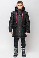 """Зимняя длинная куртка для мальчика  """"zkm-5"""" (134-164р)"""