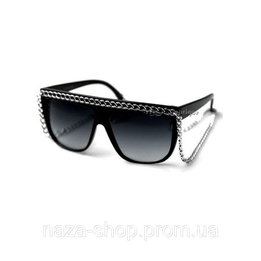 Модные женские солнцезащитные Очки Chanel с цепочкой сонцезахисні окуляри  на 8 марта - Naza Shop в 24b54a7ab2ca4