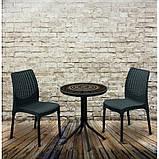 Набір садових меблів Chelsea Set With Mosaic Table з штучного ротанга ( Allibert by Keter ), фото 2