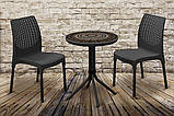 Набір садових меблів Chelsea Set With Mosaic Table з штучного ротанга ( Allibert by Keter ), фото 4