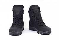 Ботинки тактические мужские кожаные 8д черные, фото 1