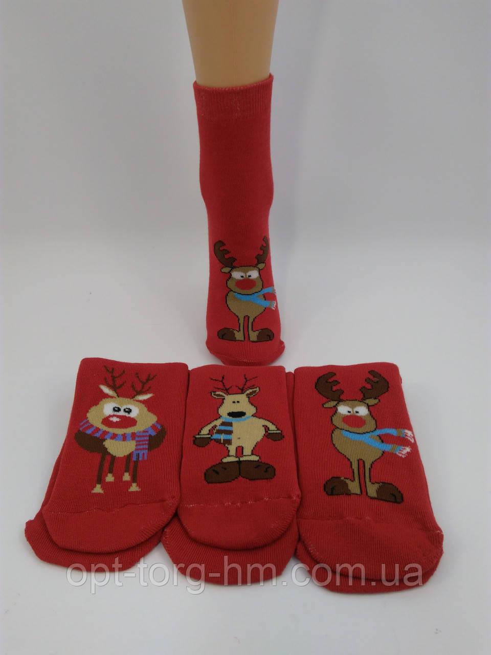 """Махровые женские носки """" PVS"""" Олени. Размер 35-41 обувь"""