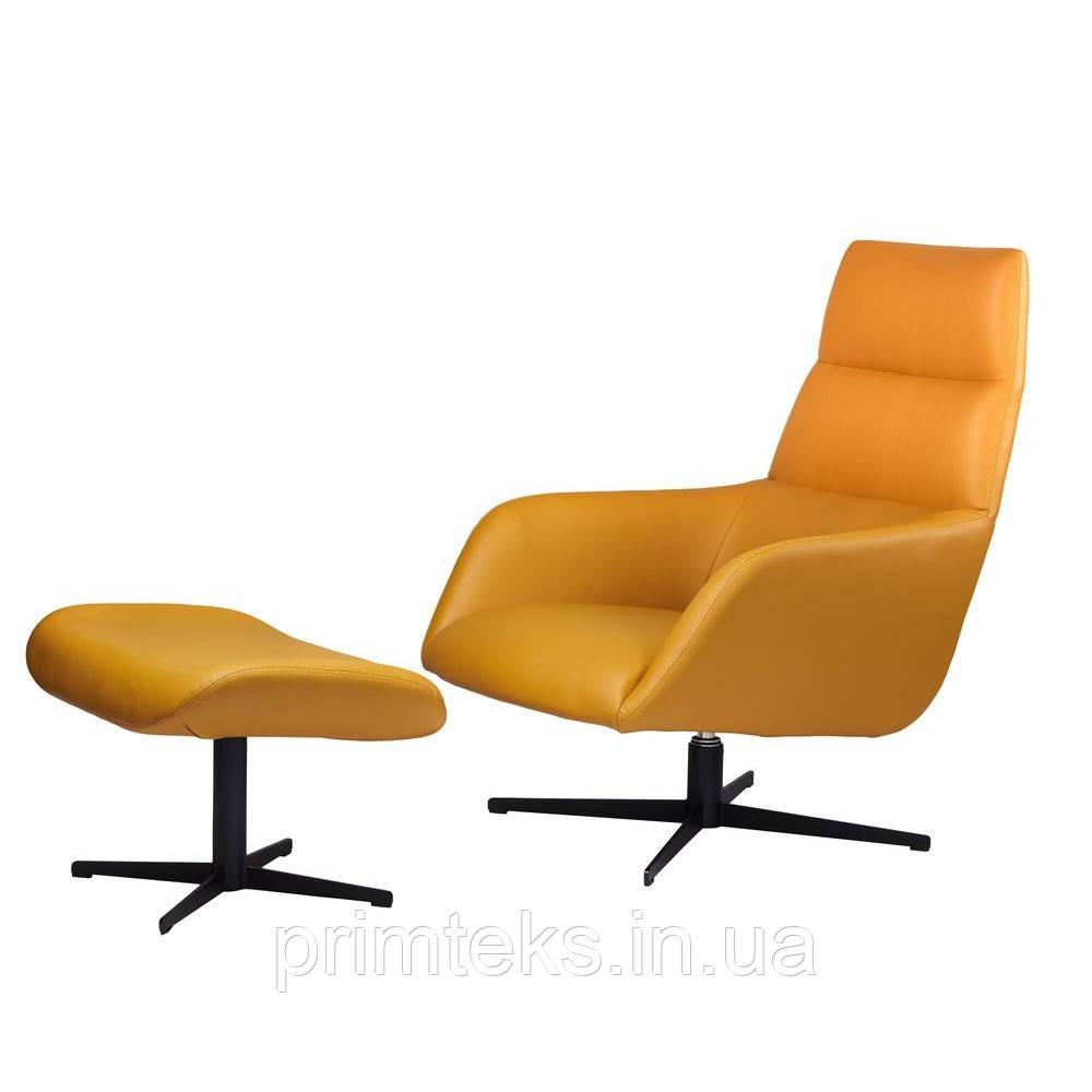 Лаунж крісло Berkeley( Берклі) з підставкою, світло-коричневе