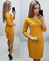 Платье женское, модель 805,  цвет горчица