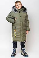 """Длинное зимнее пальто куртка для мальчика  """"zkm-4"""" (134-158р)"""