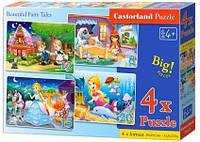 Пазлы BIG 4в1 Красивые сказки Castorland