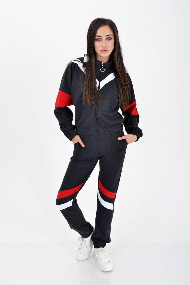 Спорт костюм женский Темно-серый