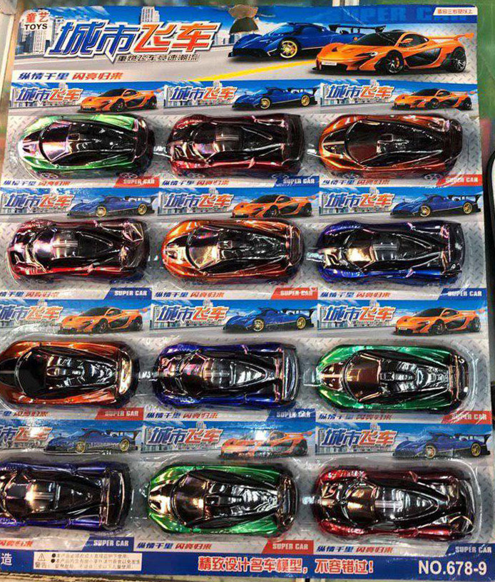 Набор из 12 спортивных машинок | Игровой набор детских машинок