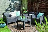 Набір садових меблів Chicago Set With Small Table з штучного ротанга ( Allibert by Keter ), фото 3