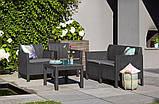 Набір садових меблів Chicago Set With Small Table з штучного ротанга ( Allibert by Keter ), фото 5