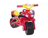 Мотобайк детский беговел музыкальный Полиция - качественный детский беговел красного цвета