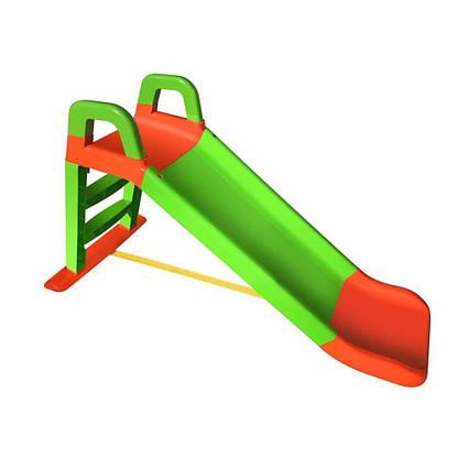 Детская горка для дачи и дома 140 см Долони( 0140/04) Салатово-оранжевая