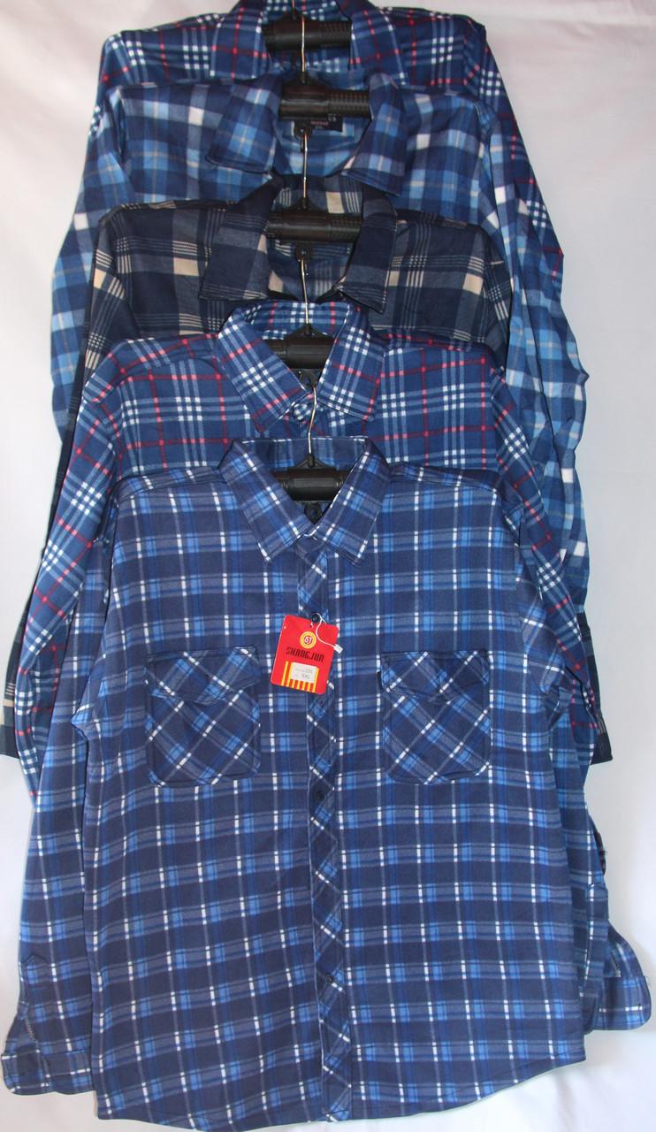 Чоловіча байка сорочка (довгий рукав) оптом зі складу в Одесі