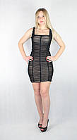 Женское вечернее платье мини с телесной подкладкой, фото 1