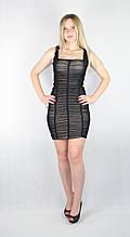 Женское вечернее платье мини с телесной подкладкой