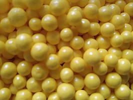 Шарики глянцевые желтые  D-10 мм